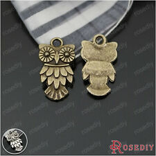 50PCS 20*11MM Zinc Alloy Owl Charms Jewelry Findings Accessories 23476
