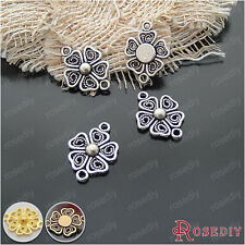20*15MM Zinc Alloy Flower Connector Charms Jewelry Findings Accessories 19997