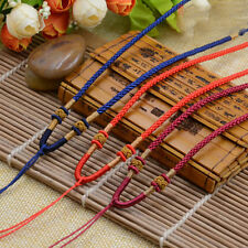 Hot Sale Braided String Rope Necklace Bead Charm Pendant Long Necklace 8 Colors