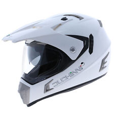 Duchinni D311 Dual Adventure Full Face Motorcycle Helmet - White