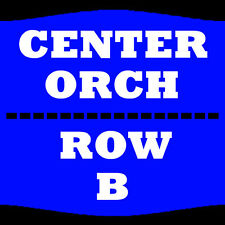 2 TIX RON WHITE 8/6 ORCH CENTER ROW B NEW JERSEY PERFORMING ARTS CENTER NEWARK