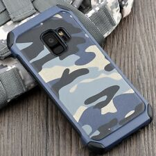 Camouflage Samsung Galaxy S 5 6 7 8 Edge Military Case Camo Army Rugged Rubber