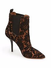 GIVENCHY PALMA AMAZING LACE SEXY BLACK NUDE POINTY TOE ANKLE BOOTS EU 40