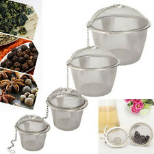 Stainless Steel Mesh Ball Tea Leaf Strainer Infuser Filter Diffuser BD