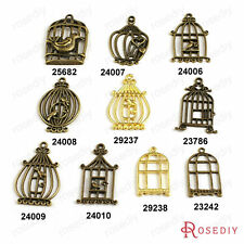 Zinc Alloy Bird cage Charms Pendants Jewelry Findings Accessories 23242
