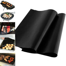 1/2P Reuseable BBQ Liner Non-Stick Barbecue Cooking Grill Baking Mat Pad Sheets
