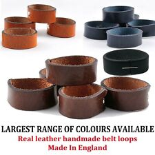 **LEATHER COLOURFUL BELT LOOPS** Handmade In England Fits To Any Belt In 3 Sizes