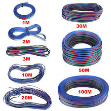 4PIN Extension Wire Cable Cord For 3528/5050 RGB LED Strip 2M/10M/20M/50M/100M