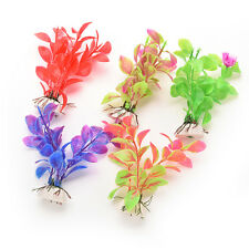 Artificial Aquarium Fish Tank Water Plant Plastic Decoration Ornament BD