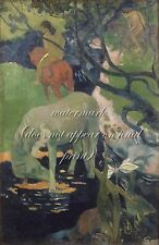 "PAUL GAUGUIN Painting Poster or Canvas Print ""The White Horse"""
