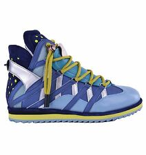 DOLCE & GABBANA RUNWAY High-Top Sneakers Mix&Match Blue Made in Italy 04641