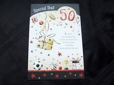 50th Birthday Card, Mum, Dad, Wife,Daughter,Brother, Sister,Son, Friend