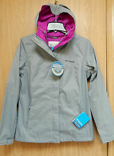 NEW Columbia Womens Breathable Packable Waterproof Rain Jacket Gray Purple S, L