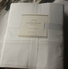NEW Pottery Barn PB Classic Sheet Set King White