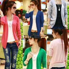 Women Lovely Irregular Hem Casual Tops Knit Sweater Cardigan Jacket Coat WT88