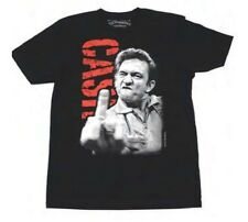 Johnny Cash The Bird Middle Finger Classic Rock Country Music Black T-Shirt