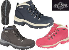LADIES WATERPROOF WALKING HIKING WINTER WORK ANKLE LACE-UP BOOTS SHOES TRAINERS