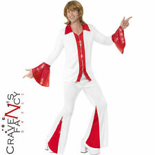 Mens Super Trooper Costume Male 70s Abba Fancy Dress Costume Outfit