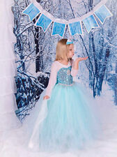 New Frozen Princess Dress Anna Elsa Queen Girls Cosplay Costume Party Dresses