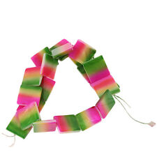 5strings Wholesale Three Color Gradient Square Shell Candy Loose Spacer Beads D
