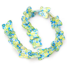 1string Beauty Flower Pattern Butterfly Shell Loose Spacer Bead Charms 35cm D