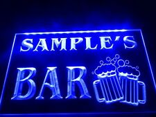 DZ028-Name Personalized Custom Home Bar Beer Mugs Cheers Sign Neon Led Light Bar