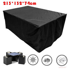 Waterproof Outdoor Rattan Furniture Cover 4,6 Seater Table Protector Cover Heavy