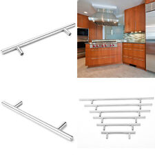 "Ø10mm-12mm Stainless Steel Kitchen Door Cabinet T Bar Handle Pull Knob 4""~16''SP"