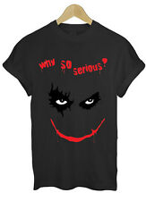 WHY SO SERIOUS JOKER BATMAN HEATH LEDGER GOTHAM CITY FUNNY GEEK T SHIRT