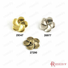 30PCS 14MM Zinc Alloy Flower buttons Jewelry Findings Accessories 26977