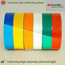 3M™ Scotchlite Reflective vinyl Tape 8 colors range 4 sizes x 2 Meters (7 feets)