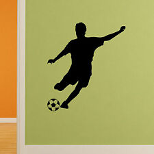 SOCCER PLAYER - Removable Vinyl Art Wall Sports Decals