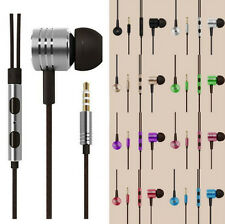 Piston Remote Mic Headphone Stereo 3.5mm In-Ear Earphone For iPhone Samsung HTC