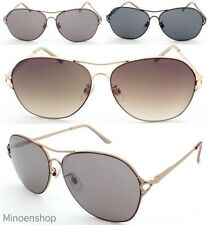 Ladies Aviator Style Sunglasses High Quality Metal Frame Fashion Rose Gold UV400