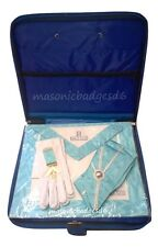 masonic regalia-CRAFT WORSHIPFUL MASTER (WM) APRON PACKAGE WITH SLIMLINE CASE