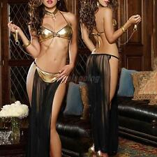 Hot Sale Sexy Patent Leather Gauze Perspective Lingerie For Women Inmates Set