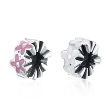 Women 925 Sterling Silver Plated Lovely Flower Charm Pendant Jewelry Accessory