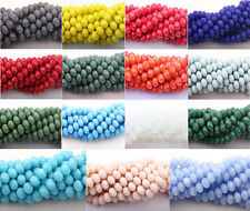 50Pcs Top Quality Czech Glass Faceted Rondelle Bead Jewelry Making 4/6/8/10mm