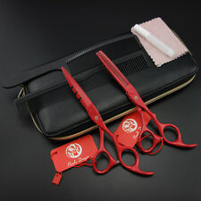 5.5&6.0 in.Hair dressing Scissors Salon Barbers Cutting&Thinning Shears set k396