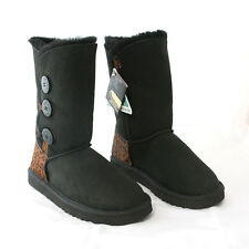 HAND-MADE Australia SHEARERS UGG 3-Button Sheepskin Fashion Classic Tall Boots