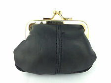 QUALITY LORENZ LADIES GIRLS SOFT LEATHER COIN CLIP TOP SMALL PURSE NEW A5841