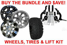 BUY THE BUNDLE AND $AVE! GOLF CART WHEELS, TIRES & JAKE'S LIFT  - 09.5+ EZGO TXT