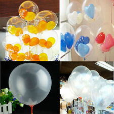 20/50/100Pcs Latex Transparent Balloons Clear Wedding Anniversary Party Balloons