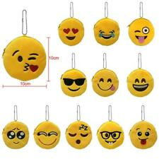Lovely Mini Emoji Emoticon Smiley Coin Purse Case Soft Plush Wallet Girl Gifts