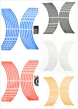 16 Pcs/Set Car Wheel Stickers Reflective Rim Stripe Tape Bike Motorcycle 18""