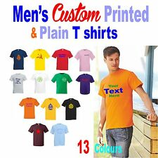 T-Shirts custom printed for YOU  Personalised with your Name/Logo/Txt BESTPRICE