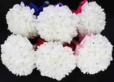 Artificial Roses Party Foam Colourfast Bride Bouquet Bridal Wedding Silk Flower