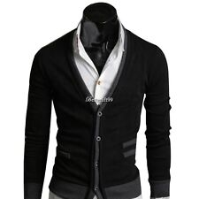 Men's Tops Knitwear Cardigan Jumper Shirts Pullover Coat Knitted Sweater BF9