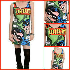 DC Comics Originals Batman & Robin Detective Comic Strip Dress BIOWORLD NWT! HTF