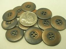 New Lots of 8 Distressed Copper Finish Metal Buttons size 7/8= 22mm (#CP2 )